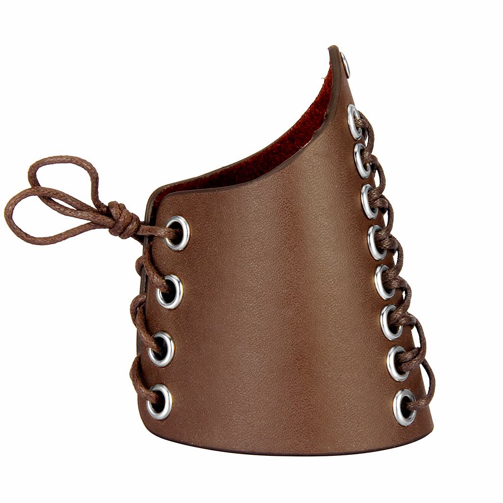 Faux Leather Arm Guards Medieval Knight Bracers One Size Laces Adjustable Medieval Punk Biker Wristband