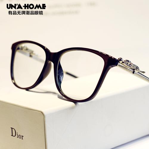 Myopia glasses frame frames female big box face lift plain mirror vintage glasses optical mirror