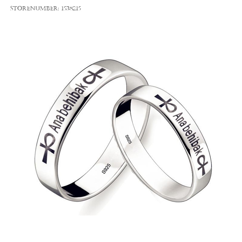 free shipping fashion and wedding silver rings