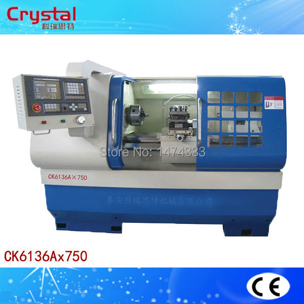 Univesal type cnc lathe precision cnc lathe machine model CK6136A(China (Mainland))