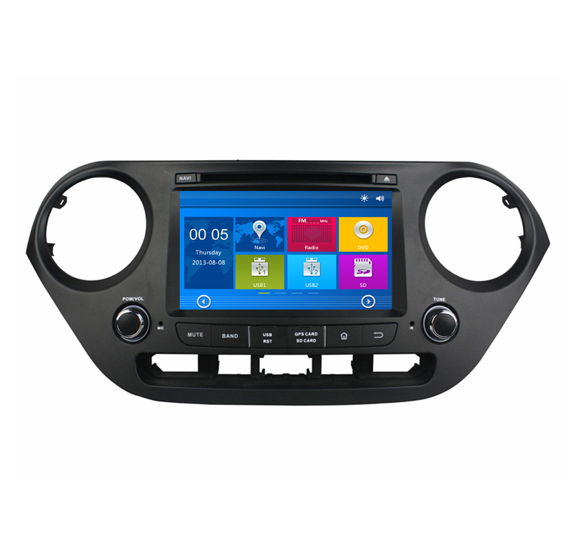 8 Inch 2 Din Car DVD Player For Hyundai I10(2014 2015 ...