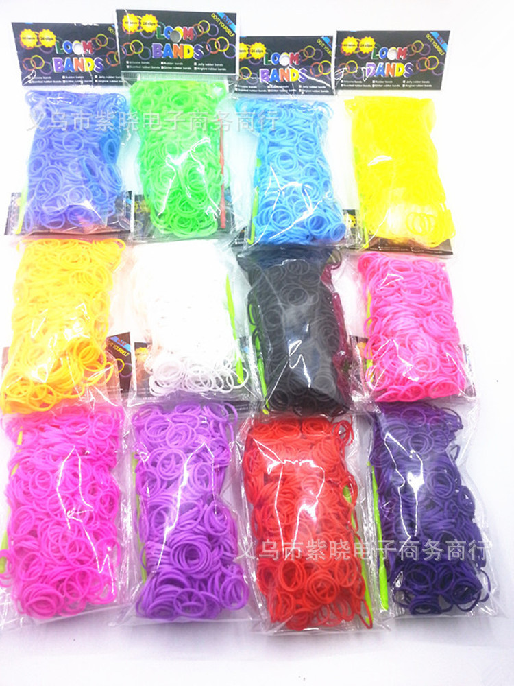 Pulseira One Direction Cheapest) 200pcs+12pcs Clip+hook/ Set Single Color Diy Loom Bands/ Bracelet For Children Fun(19 Color)(China (Mainland))
