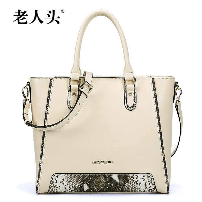 Famous brands laorentou  quality Stitching serpentine fashion casual genuine leather  women handbags Shoulder messenger Bag <br>