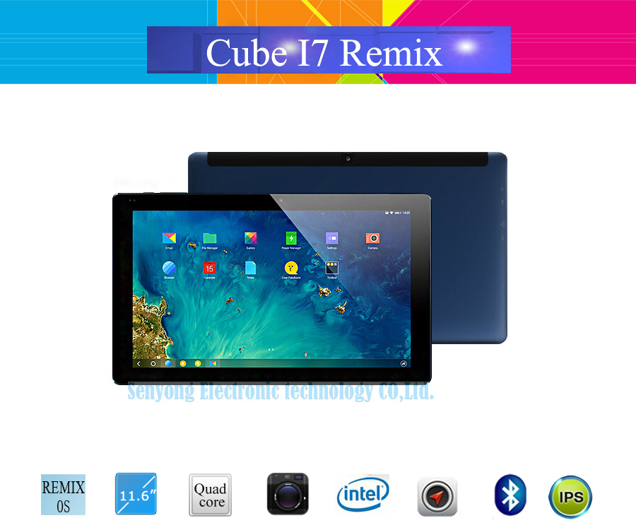 "New Arrival 11.6"" FHD 1920x1080 CUBE i7 REMIX OS Tablet PC Intel Z3735F Quad Core 2GB+32GB GPS WIFI Bluetooth HDMI 2MP+5MP(China (Mainland))"