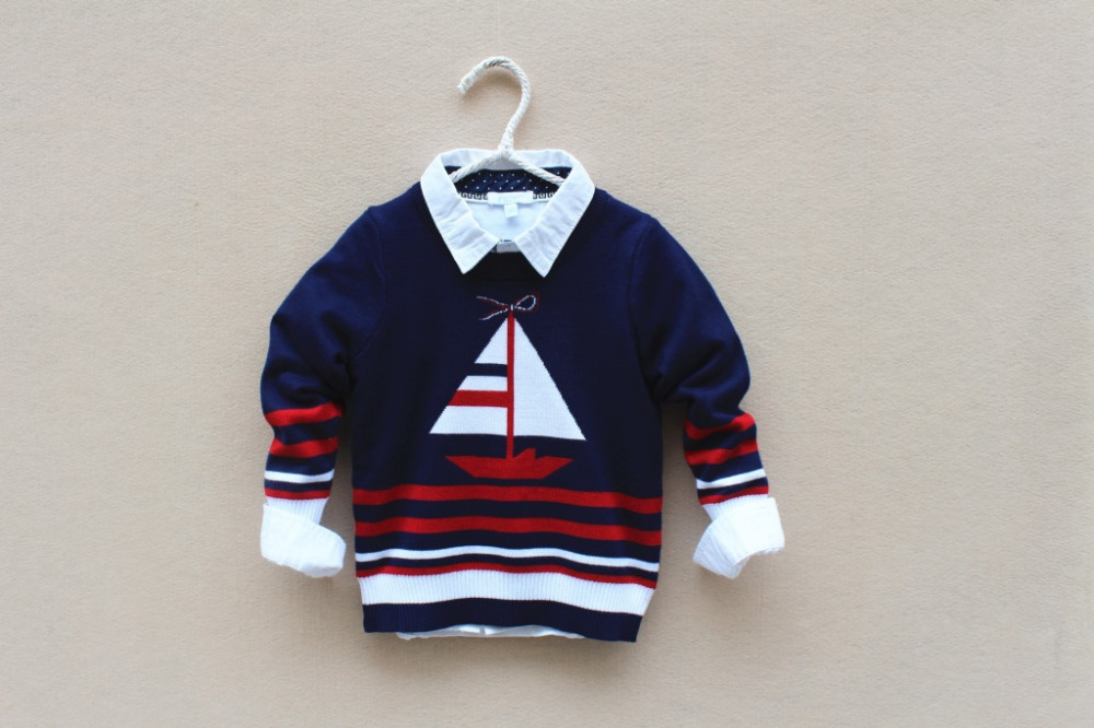 2016 Special Offer Pattern Boys Pull Enfant Garcon Pull Fille Sweater Nuskin-jacadi New 100% Cotton Baby Sweater Coat 3-10years(China (Mainland))