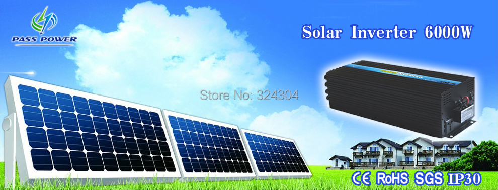 CE&SGS&RoHS Approved DC To AC 6000W Off-grid Solar panel invertor /inverter(China (Mainland))