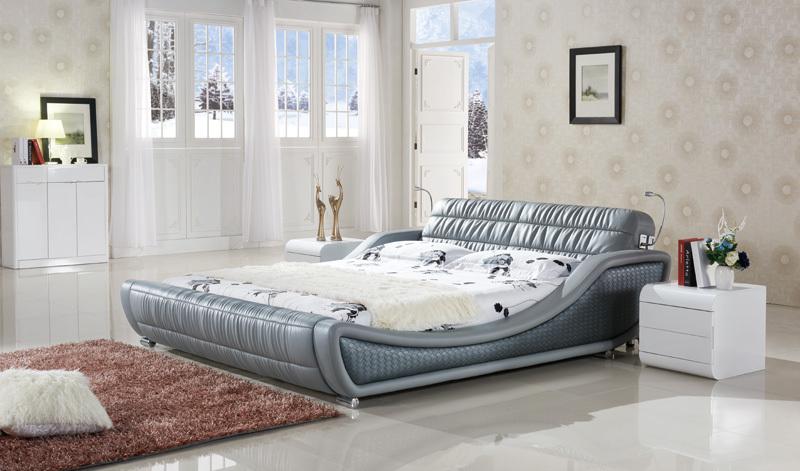 buy c576 modern comfortable soft bed. Black Bedroom Furniture Sets. Home Design Ideas