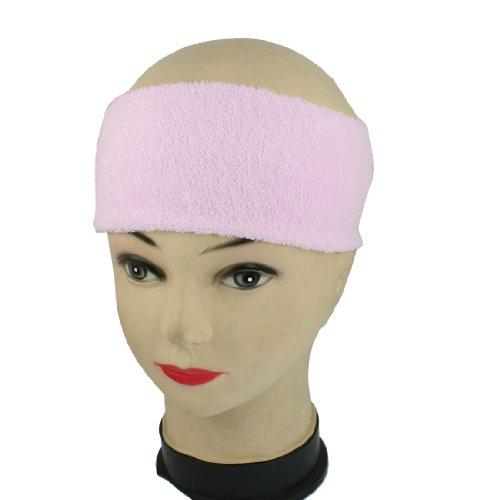 FS Hot 2Pcs Light Pink Athletic Sports Terry Stretchy Sweatband Headband(China (Mainland))