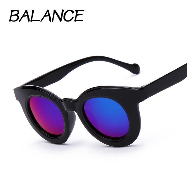 Дети Детские Солнцезащитные Очки Круг очки Бренд Дизайнер Мальчики Девочки Вс стекла Мода Детские Солнцезащитные Очки gafas de sol хомбре K15001