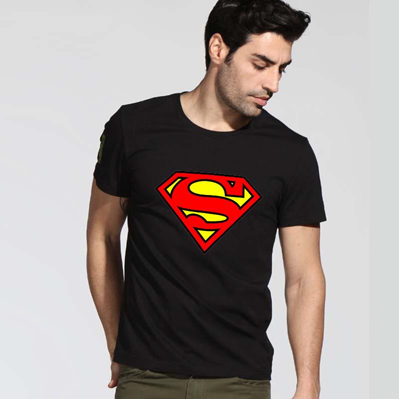 Fashion summer superman t shirt men cool casual style short sleeve round neck superman t-shirts personalized batman shirts(China (Mainland))
