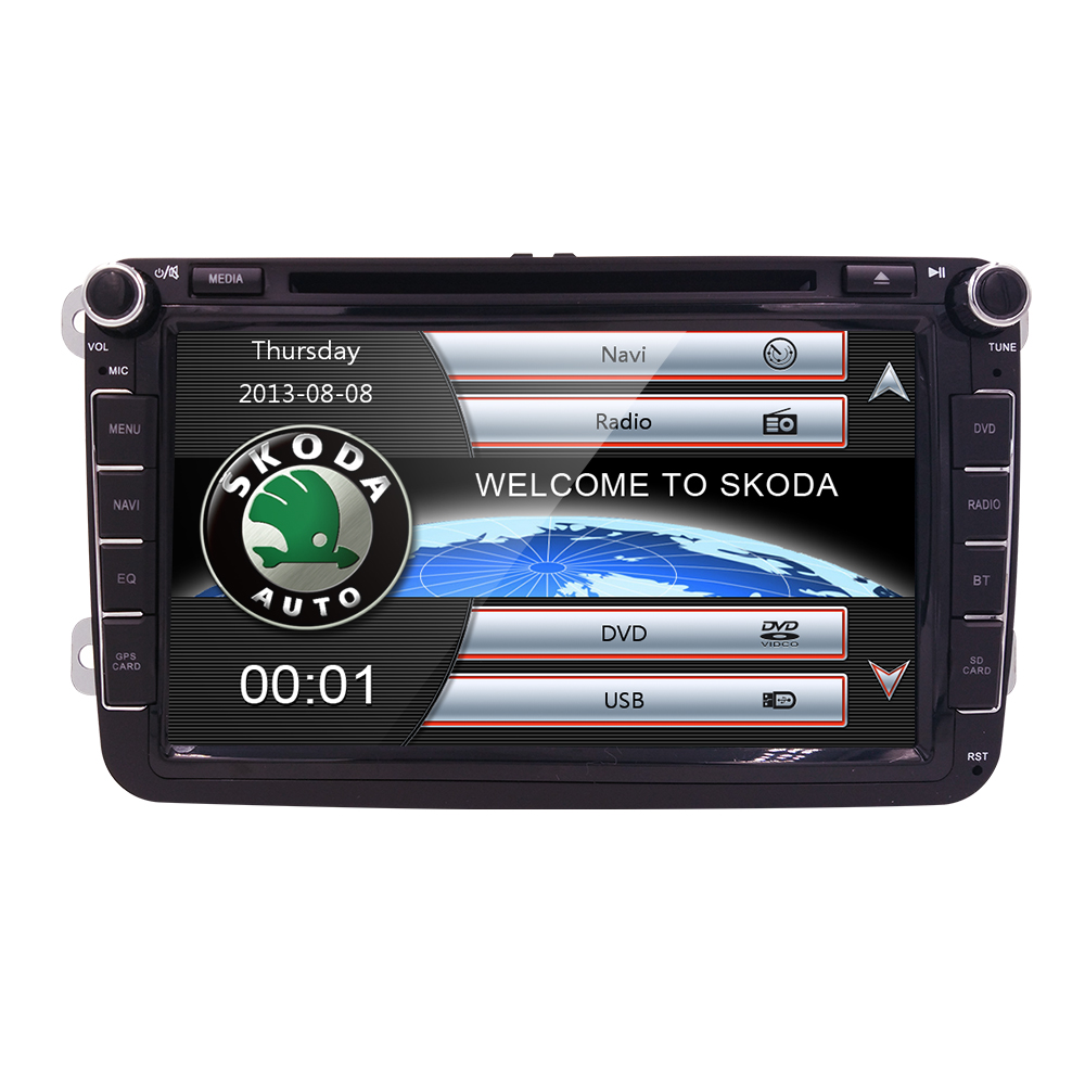 2 DIN 8'' car dvd player For VW GOLF JETTA POLO TOURAM PASSAT B6 with GPS touch screen ,steering wheel control,stereo,radio,usb(China (Mainland))
