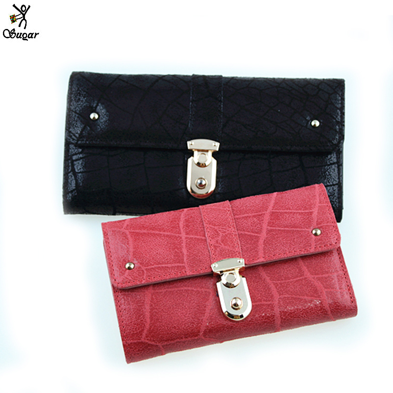 Sugar new arrival vintage purses scrub women's wallet female(China (Mainland))