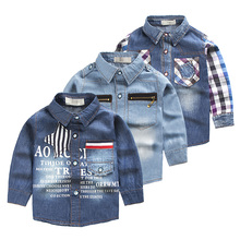Buy Baby boys clothes denim shirts cotton long-sleeve 2017 spring autumn cool children clothing fashion kids tops wear shirts for $12.99 in AliExpress store