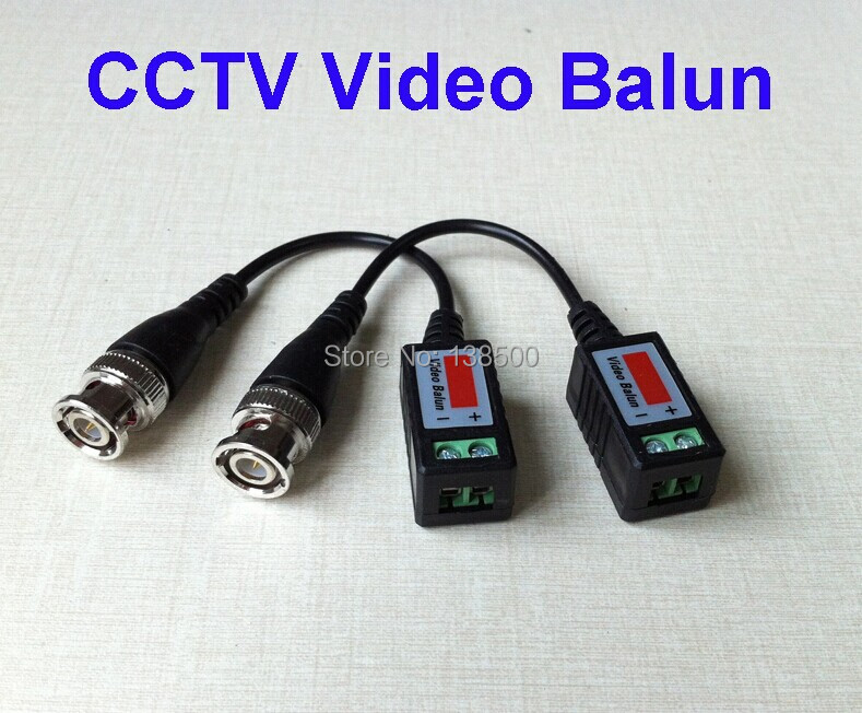 Free Shipping Wholesale 100Pcs/50Pairs Coax CAT5 To CCTV Coaxial Camera BNC Male Video Balun Connector(China (Mainland))