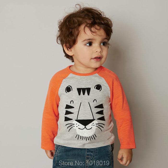 New 2016 Brand 100% Cotton Baby Boys t shirts Kids Clothing Clothes Children Long Sleeve t-shirt Boys Blouse Undershirt Baby Boy(China (Mainland))
