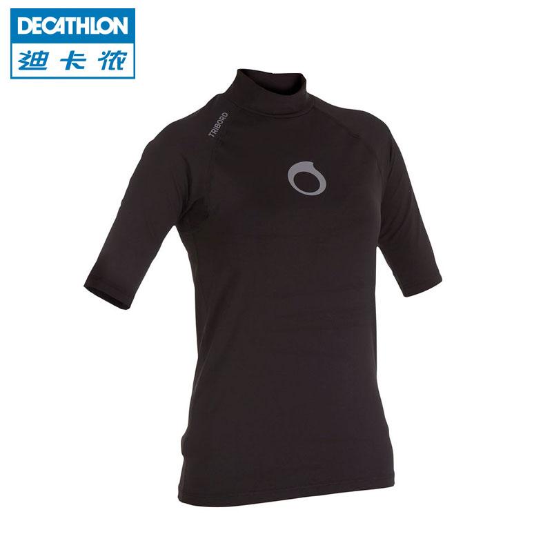 Uv short sleeve rash guard swim surf shirts women men for Men s uv swim shirt short sleeve