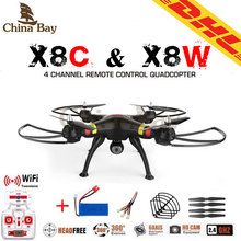 SYMA x8w & x8c FPV RC Drone 6-Axis Professional  Quadcopter With 2MP WiFi Camera RC Helicopter With Battery And Blades As Gift(China (Mainland))