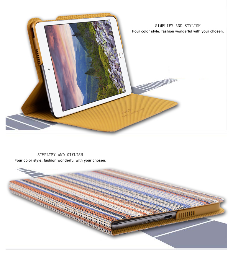 Touch Pad Keyboard Cases for iPad Mini Shell Leather Weaving Pattern Table Case Colorful with Stand Cover Compact Shockproof(China (Mainland))