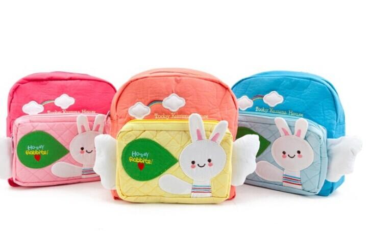 Children school bags cute infant walking wings backpacks cartoon rabbit kid new 2014 Feww Shipping B19 - Castle store