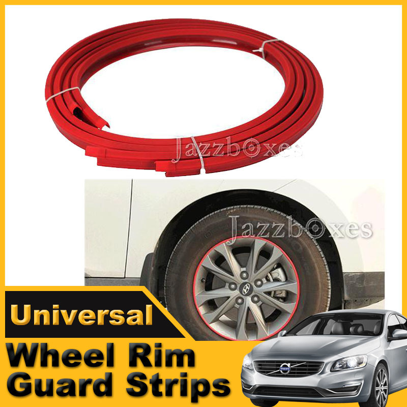4pcs/Set Red Wheel Rim Guard strips Car Motorcycle Wheel Curb Scratch Protection Alloy Armor Rim Guards(China (Mainland))