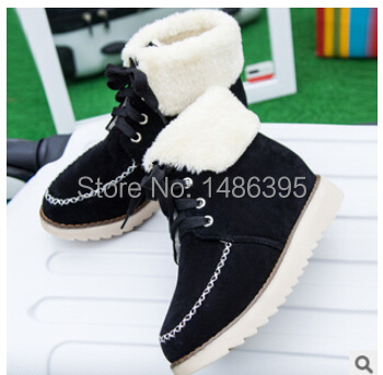 casual leisural black red breathable new womens flats shoes 2014 girls winter autumn female thick canvas cotton ankle boot - Lucky Dog's House store
