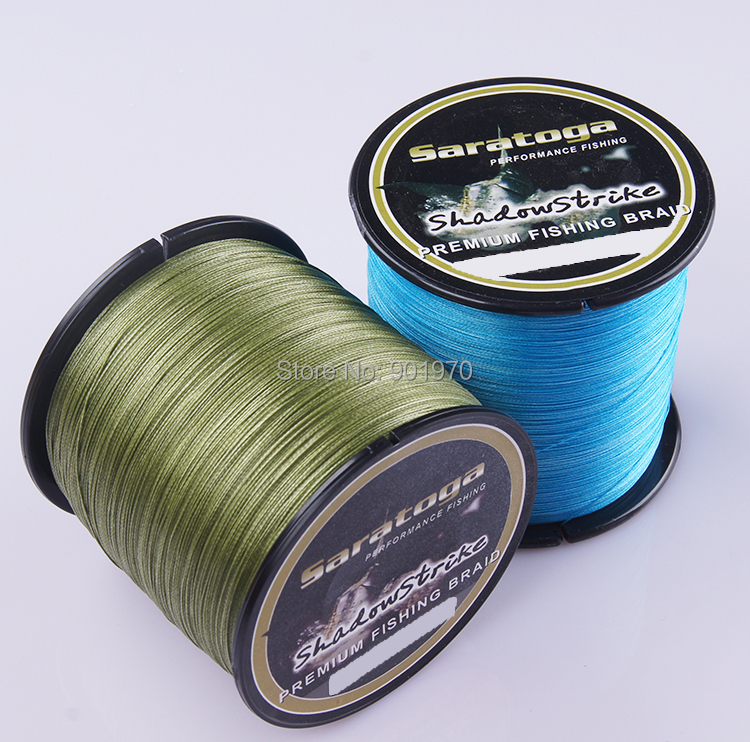 Saratoga free shipping top quality 1000m pcs 8 strand for Best fishing line