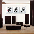 3 piece canvas abtract art black white music cuadros print painting poster oil painting wall