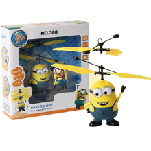 Retail Minions Despicable RC Helicopter Induction Flying Minion Fairy Dolls Remote Radio Helicoptero Drone Juguetes Toys(China (Mainland))