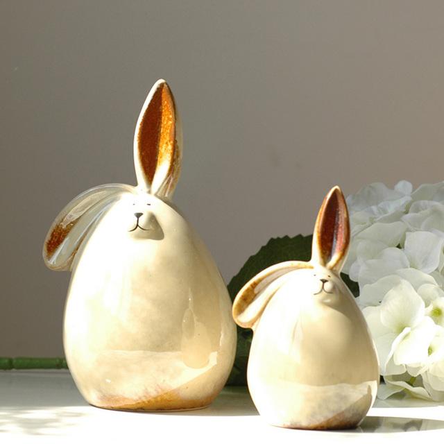 Modern decoration home accessories new house decoration ceramic crafts rabbit piggy bank 1