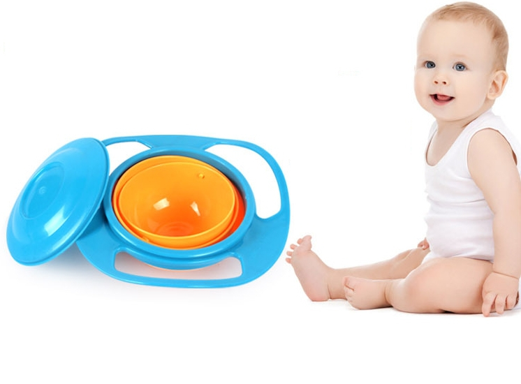 1PC New Arrival Magic Baby Training Feeding Bowl 360 Rotate Spill-Proof Bowl Dishes Q237704(China (Mainland))