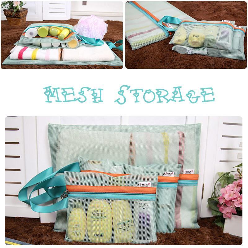 4pcs Vogue Mesh Handbags Travel Laundry Bag Clothing Storage Household Supplies #71544(China (Mainland))