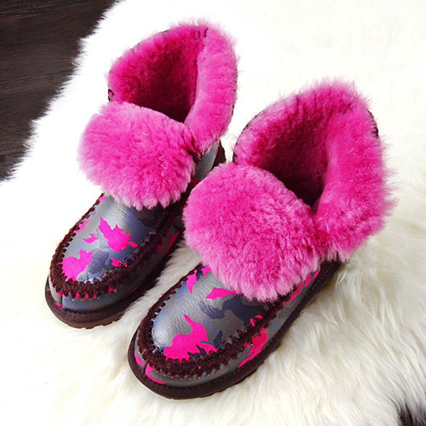 Pure cheap leather italian leather moccasin shoes winter with wool(China (Mainland))
