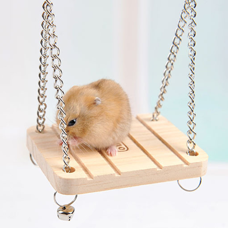 Hamster Rabbit Mouse Chinchilla Wooden Hanging Pet Hammock Small Swing Toys Cage Accessories,Pet Product(China (Mainland))