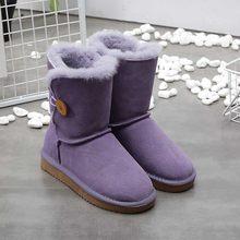 Bán Buôn/Bán Lẻ Cao Cấp Nữ Úc Cổ Điển Ủng Da Thật Tự Nhiên Bộ Lông Mùa Đông Giày Thương Hiệu Nữ Ấm Áp giày(China)