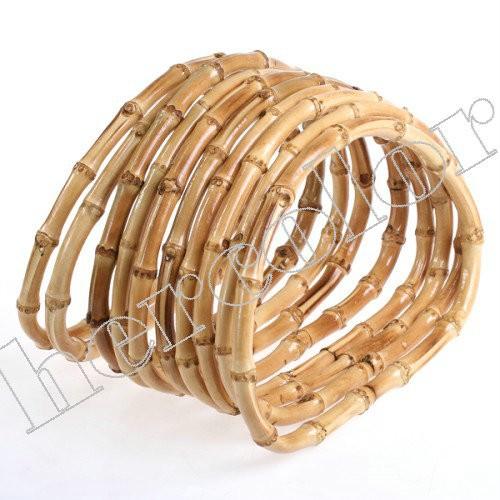 5 Pairs Bamboo Wood Hand Bag Handbag Handles Handbars(China (Mainland))
