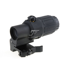 JJ Airsoft 3X Magnifier Switch Side STS Quick Detachable / QD Mount (Black) - Optics store