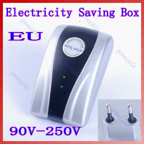 J34 Free Shipping Type Power Electricity Saving Box Energy Saver EU Plug 90V-250V(China (Mainland))