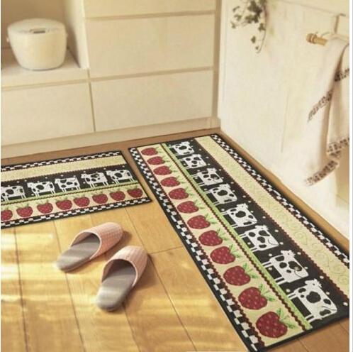 kitchen room floor runner cute cow print cartoon rugs and carpets