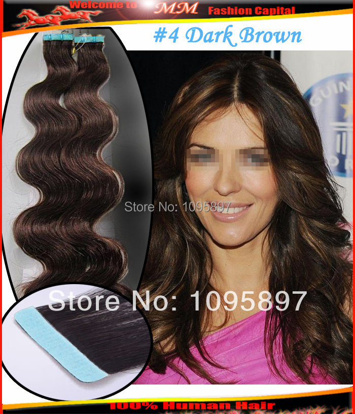 Skin Weft Hair Extensions Body Wave 108