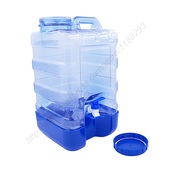 New 5 Gallon Plastic Water Bottle Reusable Wide Cap Jug Container with Valve(China (Mainland))