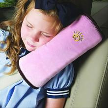 Soft Kids Car Auto Safety Seat Belt Vehicle Harness Shoulder Pad Cover Children Protection Cushion Support Pillow For Boys Girls(China (Mainland))