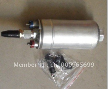 300lph 24v External Fuel Pump 9580 234 005 FUEL PUMP WITH BANJO FITTING KIT HOSE ADAPTOR UNION 8MM OUTLET TAIL HT-FPB9904KR(China (Mainland))