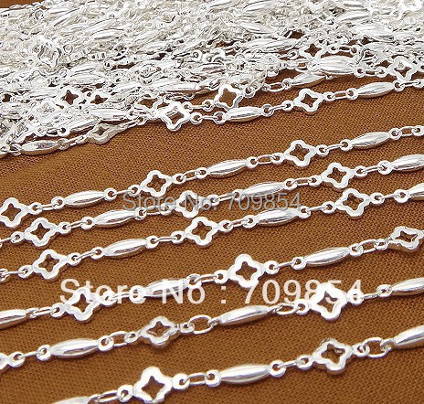 free shipping!!! 5meter/lot 5*10mm silver plated jewelry chain AD1325(China (Mainland))