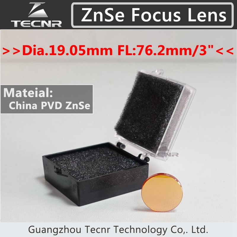 China CO2 laser optical lens ZnSe Dia.19.05MM FL76.2MM for laser cutter parts(China (Mainland))