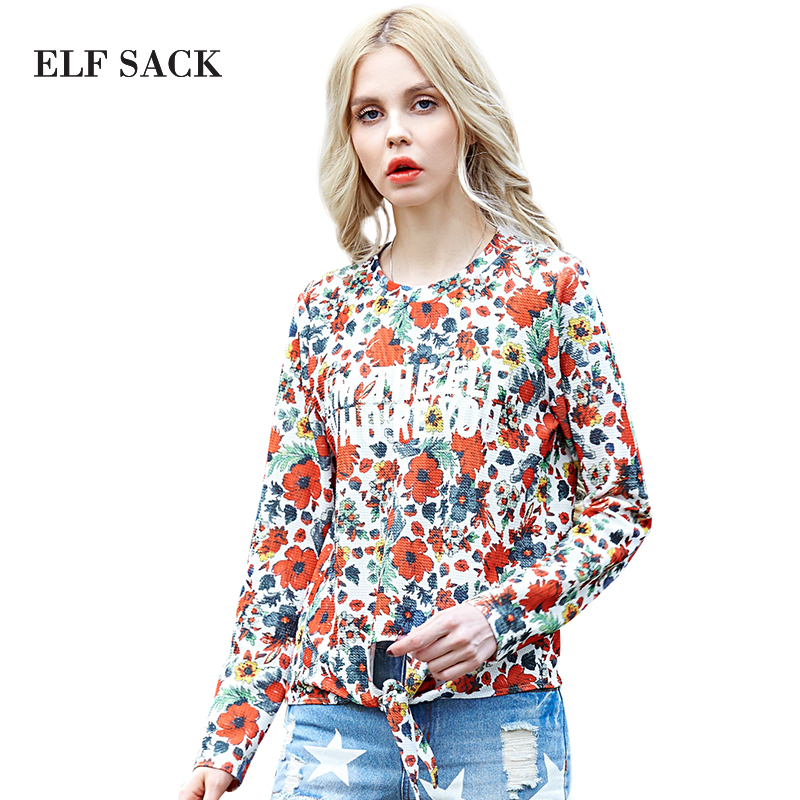 Elf SACK jade magic cube spring street print o-neck fashion t-shirt female long-sleeve short design pОдежда и ак�е��уары<br><br><br>Aliexpress