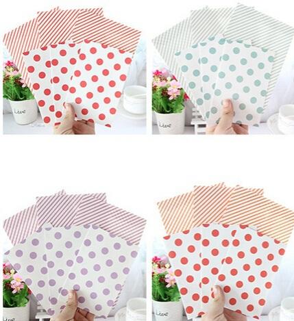 170*120mm/Fresh Dots &amp; Stripe series DIY Multifunction Kraft paper Envelope set with letter paper/wholesale<br><br>Aliexpress
