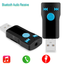 USB Bluetooth Audio Receiver Handsfree Phone Calling Music Audio Stereo Adapter for Car Aux 3.5MM A2DP for Home Speaker(China (Mainland))