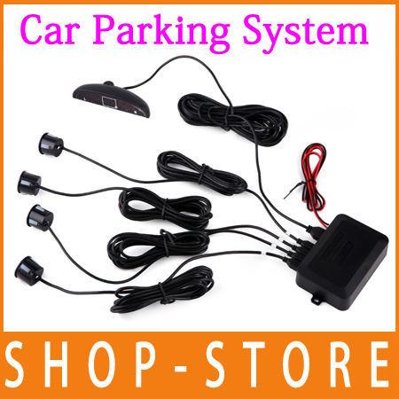 Free Shipping Car Digital LED Display Parking Reverse Back up System Radar 4 Sensors