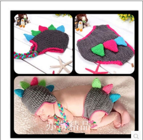 Newborn Baby Girls Boys Crochet Knit Costume Photo Photography Prop Outfits#10(China (Mainland))