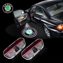 LED Car Door Logo laser projector Light for Skoda Superb 2009-2014(China (Mainland))
